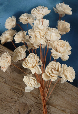 "Sola Flowers 12"" Bouquet 20 - 3.5"" Flowers on  wired stems"