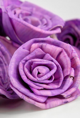 Sola Flowers Purple Roses (15 flowers)