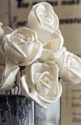 """10 Sola Flowers 5"""" Wired Roses"""