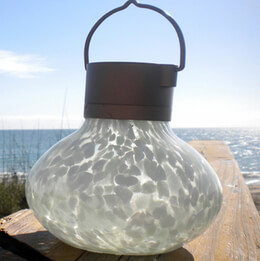 Solar Lantern Glass 5in