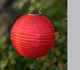LED Solar Lantern Red