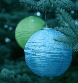 "Solar Lanterns Soji LED 10"" Blue"