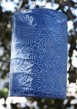 """Solar Lanterns Soji Stella Outdoor Lantern - 7"""" Blue"""