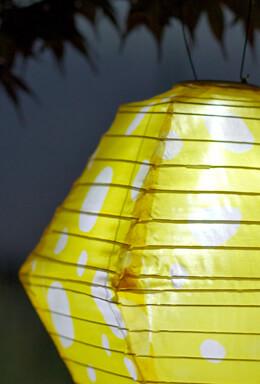 Allsop Soji� Solar Lantern -   Yellow & White Rhombus