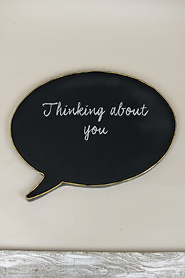 Speech Bubble Chalkboard 20x14in