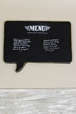 Large Speech Bubble Chalkboard 19.5x23.5in