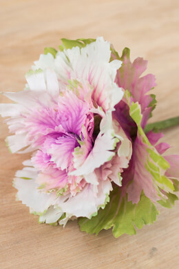 Artificial Decorative Cabbage Head Green & Lilac