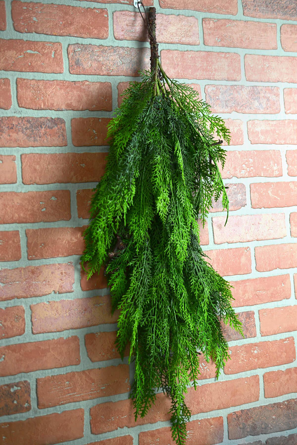 Large 36 Faux Cedar Branch Outdoor Spray