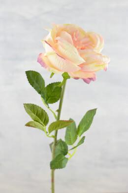 "Silk English Rose Peach & Cream Spray 28"""