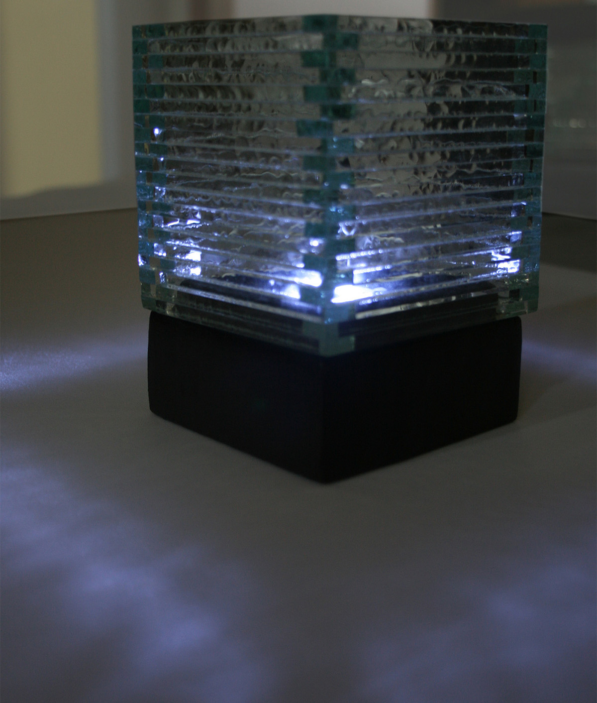 Stacked Glass Square Candle Holder