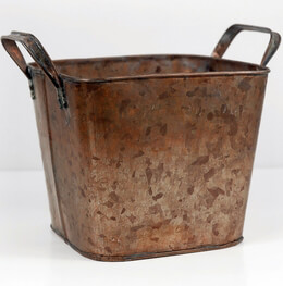 Square Planter Copper