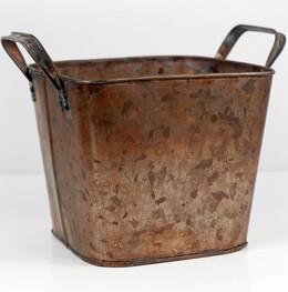 Square Planter Copper