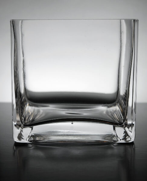 Square Glass Vase 4in