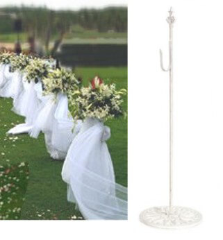 White Iron Wedding Aisle Hooks 30in