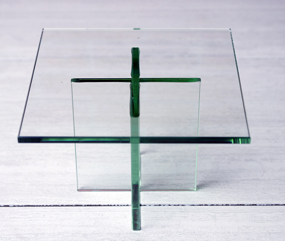 """Clear Glass Plate Display Stand 8""""x5.5"""""""