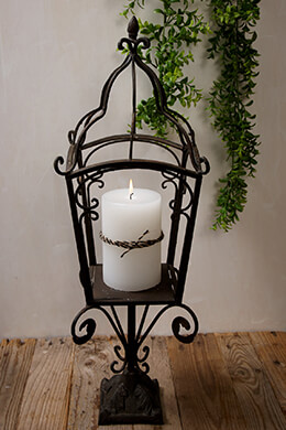 Standing Candle Holder Metal 27in