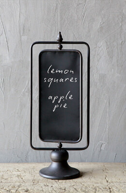 Two Sided Large Standing Chalkboard 10 x 24