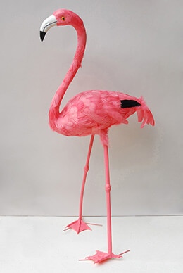 "Giant 40"" Pink Feathered Flamingo  SHIPS FREE"
