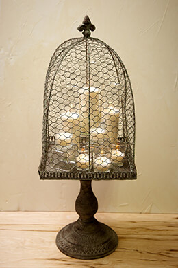 Standing Metal Bird Cage 26.5in