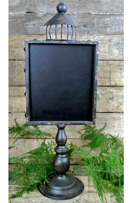 "21"" Pedestal with Chalkboard Brown"