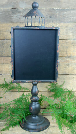 Standing Metal Blackboard Dark Brown