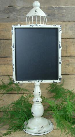 Standing Metal Blackboard Ivory