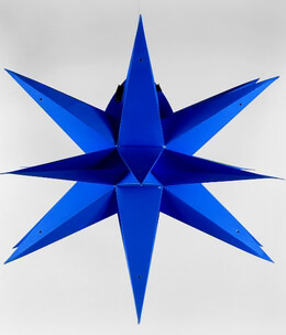 Multi-Point Star Lantern Blue 24in