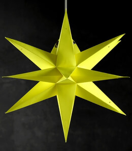 Multi Point Yellow 3D Star Lanterns 24""