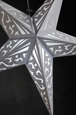 Atomic White Star Lanterns  24""