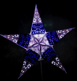 Purple and Blue Star Lanterns 24in