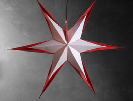 Star Lanterns Red and White 23 in. Multipoint 3D