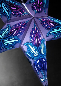 Star Lanterns Boho Turquoise, Purple & Aqua 24in