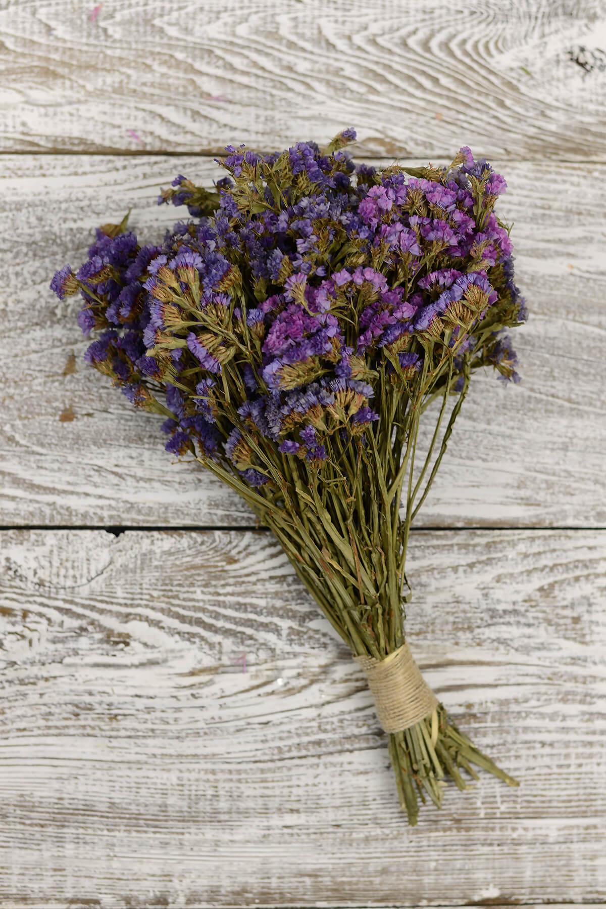 Preserved Purple Statice Bouquet 10-14in 4oz