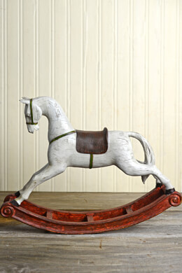 Vintage Rocking Horse 12in Christmas Sculpture