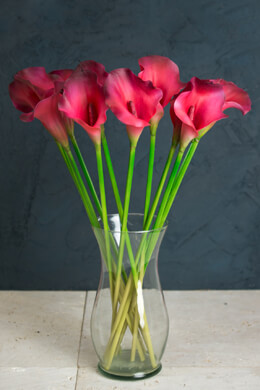 One Dozen Beauty Red Calla Lily Stems 21in Artificial