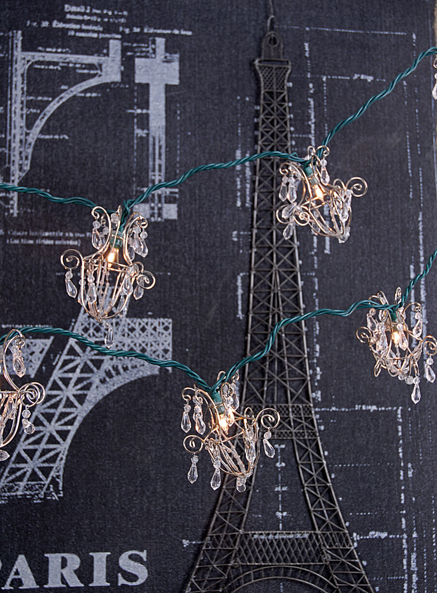 Mini Chandelier String Lights : Mini Acrylic Crystal Chandelier String Lights 16ft