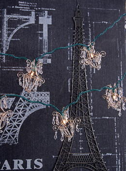 Mini Chandelier String Lights