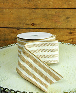 Striped Ribbon 2.5in x 24ft