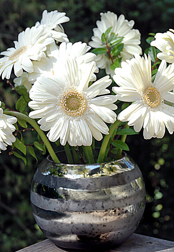 Mirrored Striped Bubble Bowl Vase
