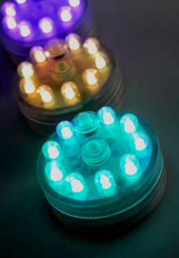 submersible led lights, floralytes, ice cubes, fairy lights, Reel Combo