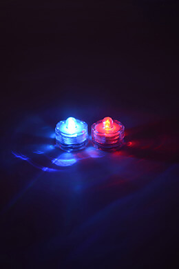 2 RGB Submersible LED Lights