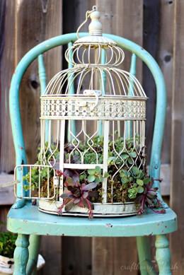Vintage Round Bird Cages (Set of 2)