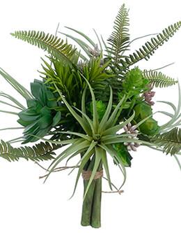 """Artificial Succulent Garden Bouquet in Green - 10.5"""" Tall"""