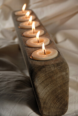 Oak Candle Holder (6 candles)