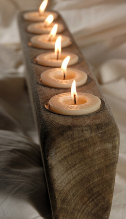 Oak Candle Holder | 6 candles