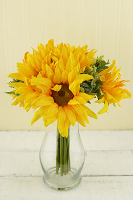 Sunflower Bouquet Yellow 10in