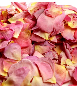 Preserved Rose Petals Pink & Apricot (5 Cups)