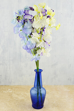 Sweet Pea Flower Bundle 20in