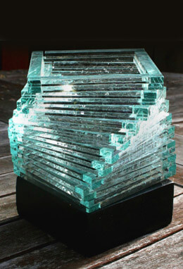 Stacked Glass Helix Votive Holders