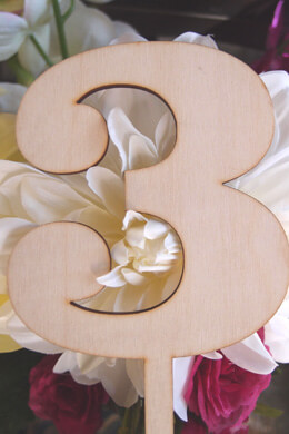 Wood Table Number 3